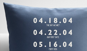 Pillow personalized date