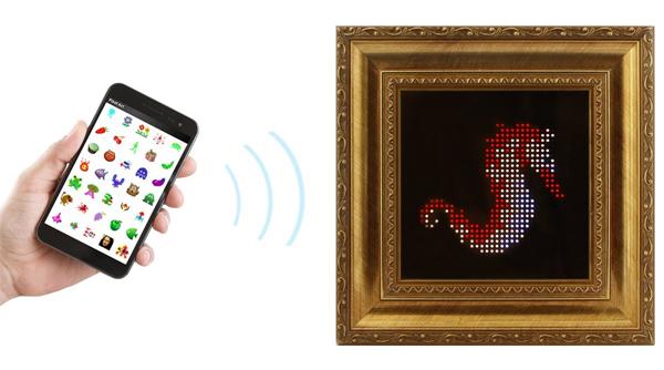 Interactive LED art pixel